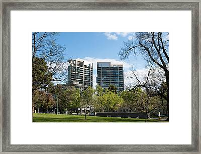 Apartment Buildings Along St. Kilda Framed Print by Panoramic Images