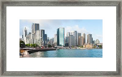 Apartment Buildings And Skyscrapers Framed Print by Panoramic Images