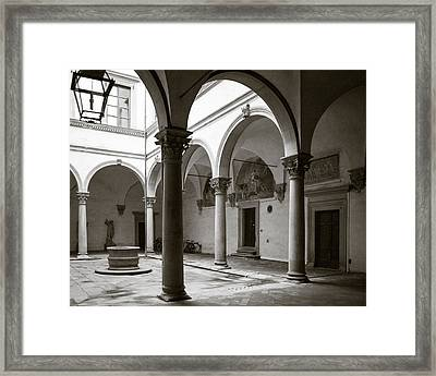 Apartment Corridor In Florence Framed Print
