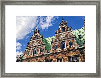 Apartment Facade - Nyhavn - Copenhagen Denmark Framed Print by Jon Berghoff