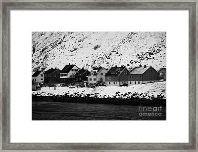 Apartment Houses Strandgata Havoysund Finnmark Norway Europe Framed Print by Joe Fox