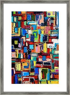 Apartment Windows Framed Print