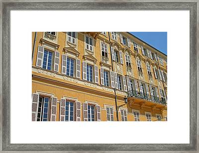 Apartments In Nice Framed Print
