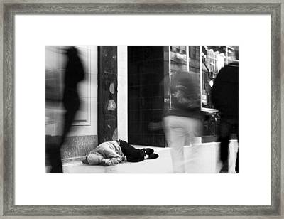 Apathy Framed Print by Nicola Nobile