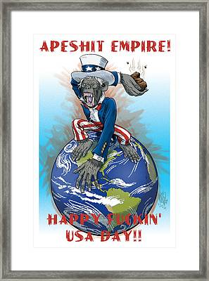 Apeshit Empire Framed Print