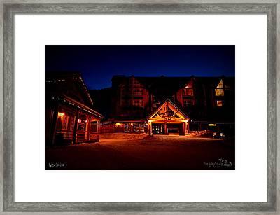 Apex Mountain Ski Village Framed Print by Guy Hoffman