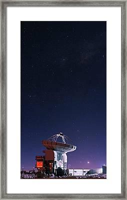 Apex Radio Telescope And Night Sky Framed Print by Babak Tafreshi