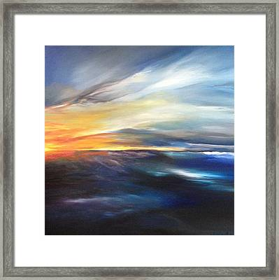 Erie Sky Framed Print by Jessica Maron