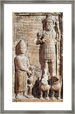 Aphlad, Sematic God Of Ancient Framed Print by Science Source