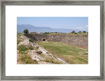 Aphrodisias Stadium From The East Framed Print by Tracey Harrington-Simpson