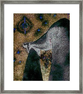 Aphrodite Holds Council With The Pleiades Framed Print by Nova Cynthia Barker