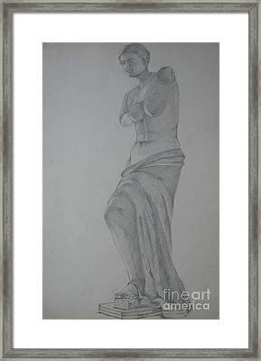 Aphrodite Of Milos Framed Print by Kalpana Talpade Ranadive