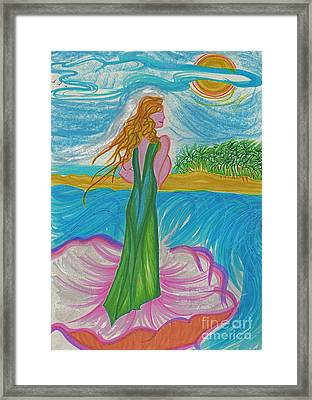 Aphrodite Venus Framed Print by First Star Art
