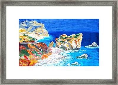 Aphrodite's Birth Place Framed Print