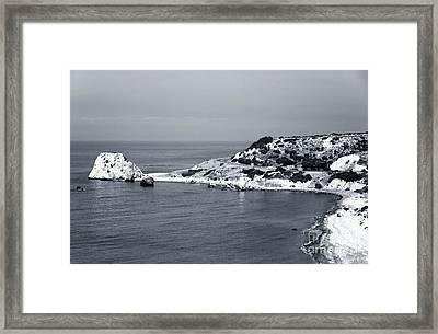 Aphrodite's Coast Framed Print by John Rizzuto