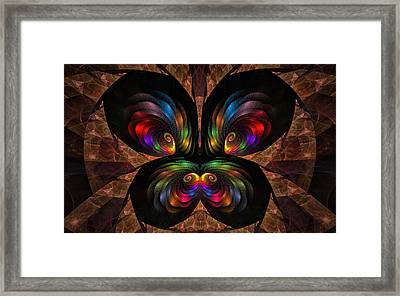 Framed Print featuring the digital art Apo Butterfly by GJ Blackman