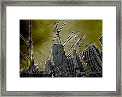 Apocalypse At Nyc Framed Print by Coqle Aragrev