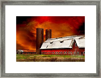 Framed Print featuring the photograph Apocalypse At Rolling Fork by T Lowry Wilson