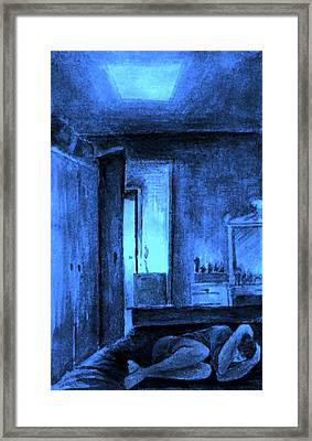 Framed Print featuring the painting Apocalypsis 2001 Or Abandoned Soul by Mikhail Savchenko
