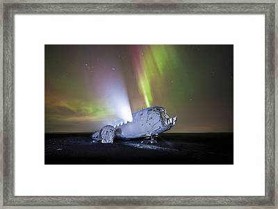 Apocalyptic Aurora Framed Print by Timm Chapman