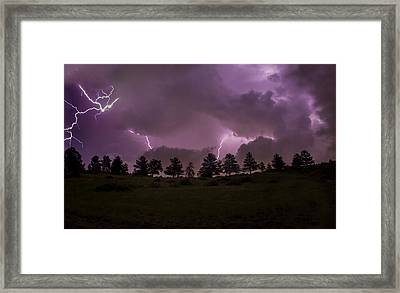 Apocalyptic Lighting Framed Print by Jeremy Jensen