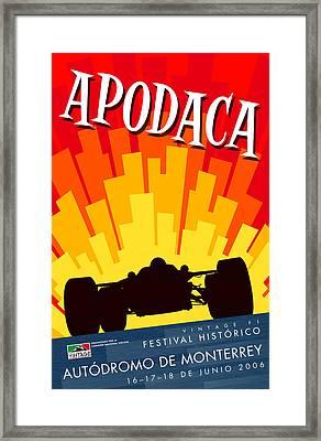 Apodaca Monterrey Historic Vintage Festival Framed Print by Georgia Fowler