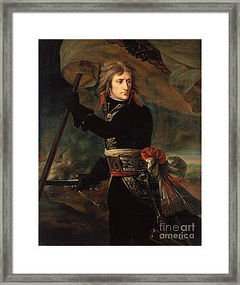 apoleon Bonaparte on the Bridge at Arcole Framed Print by Celestial Images
