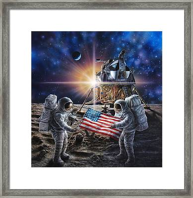 Apollo 11 Framed Print by Don Dixon