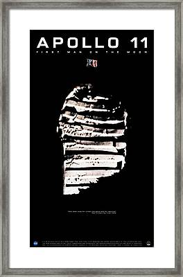 Apollo 11 Footprint Framed Print