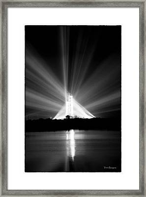 Apollo 11 In The Spotlight Framed Print by Travis Burgess