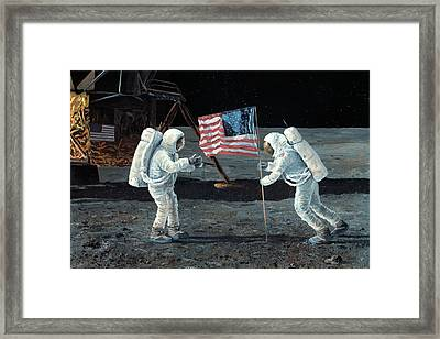 Apollo 11 Moon Landing, 1969, Artwork Framed Print by Science Photo Library