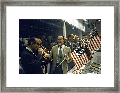 Apollo 11 Officials Celebrating, 1969 Framed Print