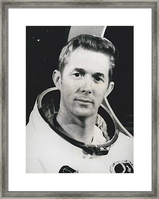 Apollo 14 Astronaut Stuart Roosa - Apollo 14 Command Module Framed Print by Retro Images Archive