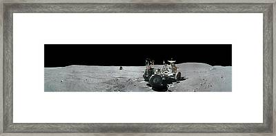 Apollo 16 Exploration Of The Moon Framed Print by Carlos Clarivan