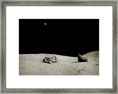 Apollo 16 Lunar Rover Framed Print