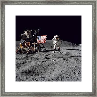 Apollo 16 Framed Print by Paul Fearn