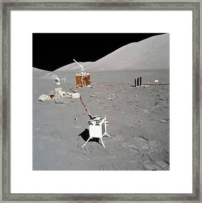Apollo 17 Alsep Equipment Framed Print by Nasa