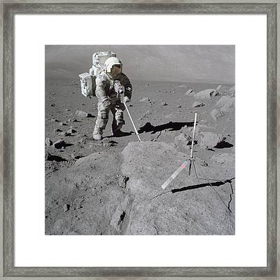 Apollo 17 Mission Framed Print by Celestial Images