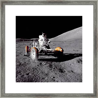 Apollo 17 Moon Rover Ride Framed Print by Movie Poster Prints