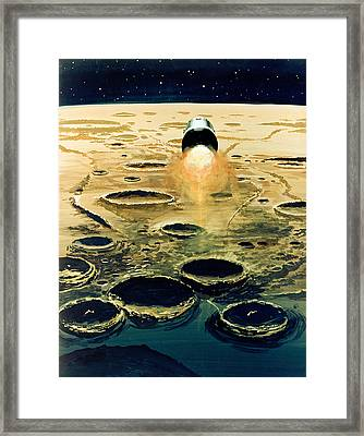 Apollo 8, Lunar Orbit Mission, 1968 Framed Print