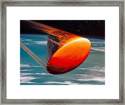 Apollo 8, Re-entering Earths Framed Print