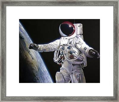 Apollo 9 - Schweickart On The Porch Framed Print by Simon Kregar