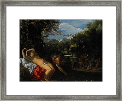 Apollo And Coronis Framed Print by Adam Elsheimer