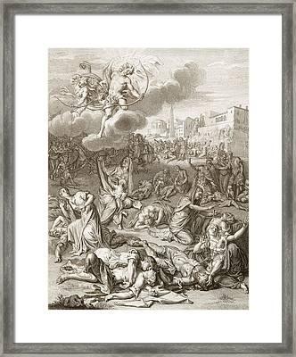 Apollo And Diana Kill Niobe's Children Framed Print