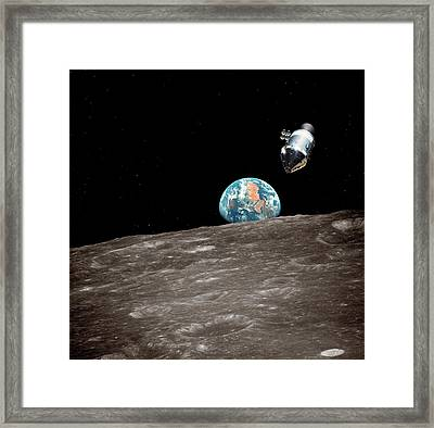 Apollo And Moon Framed Print by Detlev Van Ravenswaay