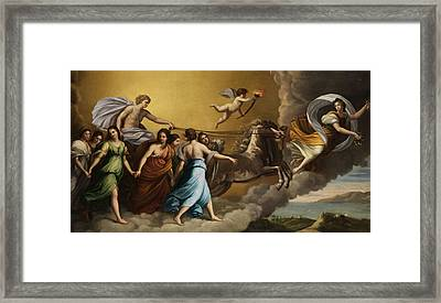 Apollo And The Muses Framed Print by Italian painter