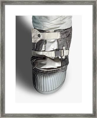 Apollo Astronaut Boot Framed Print by Detlev Van Ravenswaay