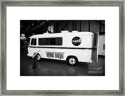 apollo astronaut van at the apollo saturn v center at Kennedy Space Center Florida  Framed Print