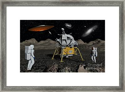 Apollo Astronauts Coming Into Contact Framed Print by Mark Stevenson