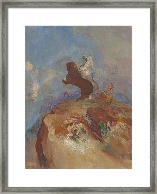 Apollo, C.1905-10 Framed Print by Odilon Redon